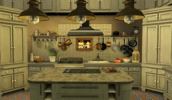 The sims 4 Rustic kitchen pc game