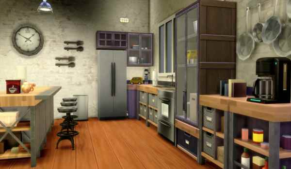 The sims 4 Free rustic kitchen